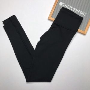 Lululemon Ruffle Detail Ruched Waistband Leggings